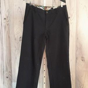 LULULEMON Black Pinstripe Dress Men's Pants  34x35